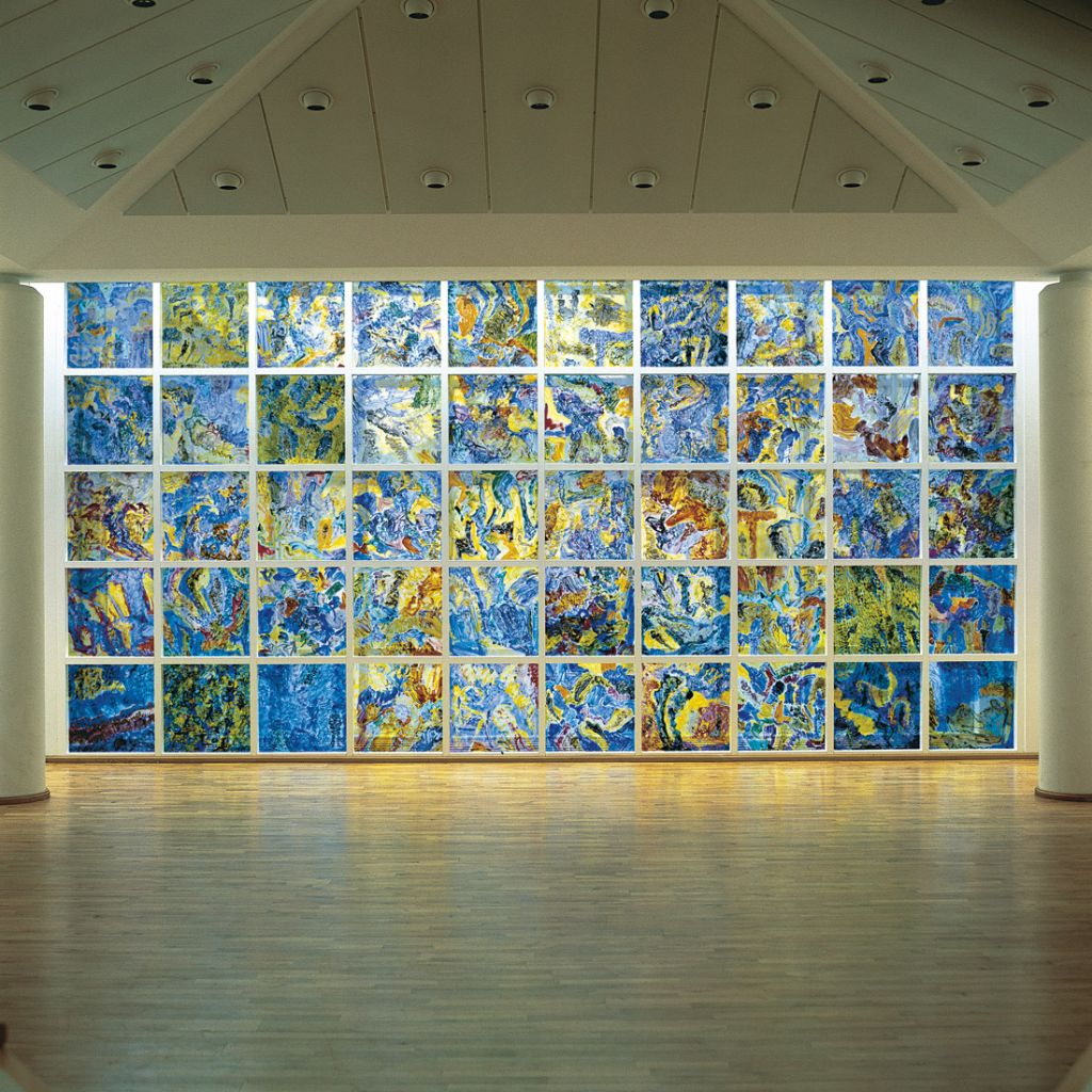Udsigt fra Bifrost, 420x700 cm Nationalmuseet, glasudsmykning