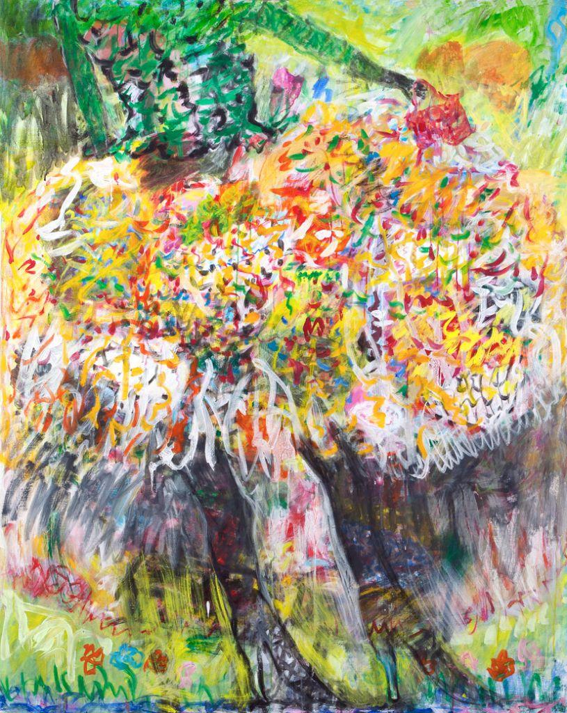 Rites of Spring 166x133 cm Maleri på lærred