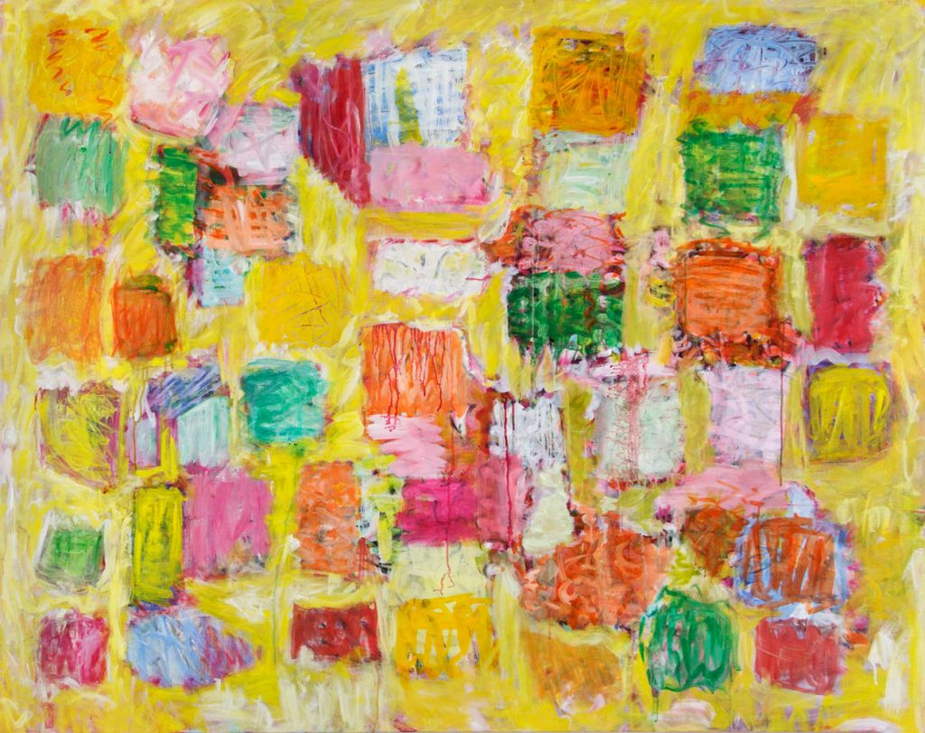 Yellow but not Mellow 166x133 cm