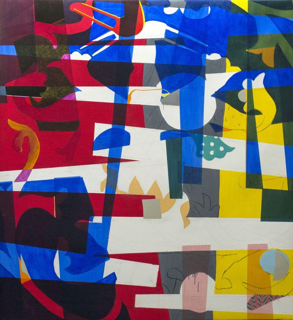Bølgekronet Storkenæb, olie på lærred 225x203 cm