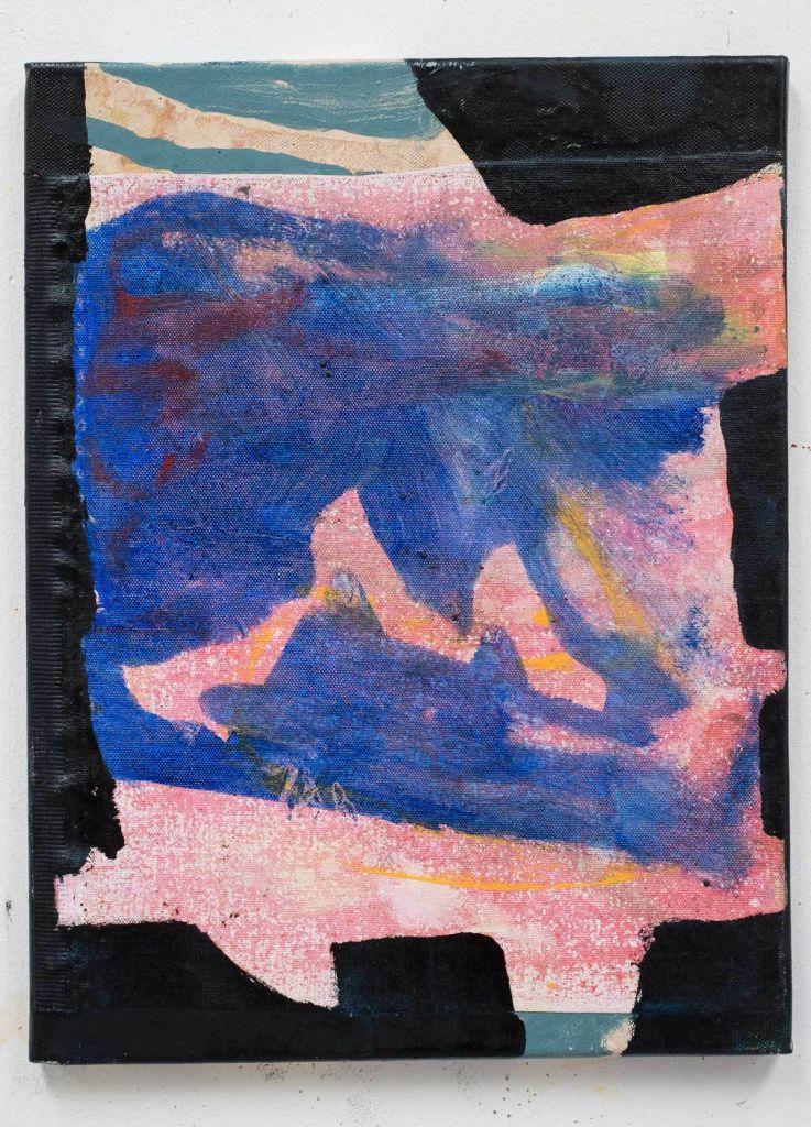 Dans, olie på lærred, 40x30 cm