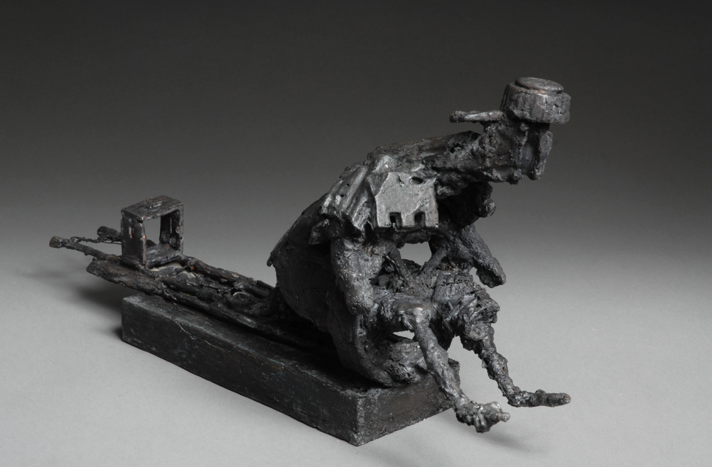 """""""Slædefører"""", bronze (cire persille)"""