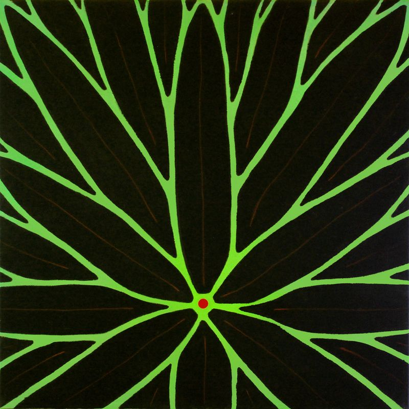 akryl på lærred, 50 x 50 cm