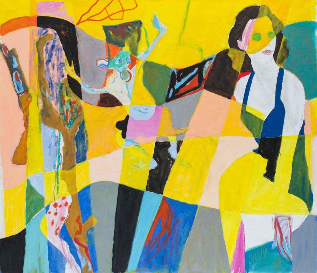 Tre Verdener,olie på lærred, 120x136 cm