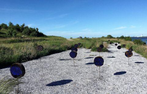 Yngve Riber, Land-art udstilling på Stige Ø